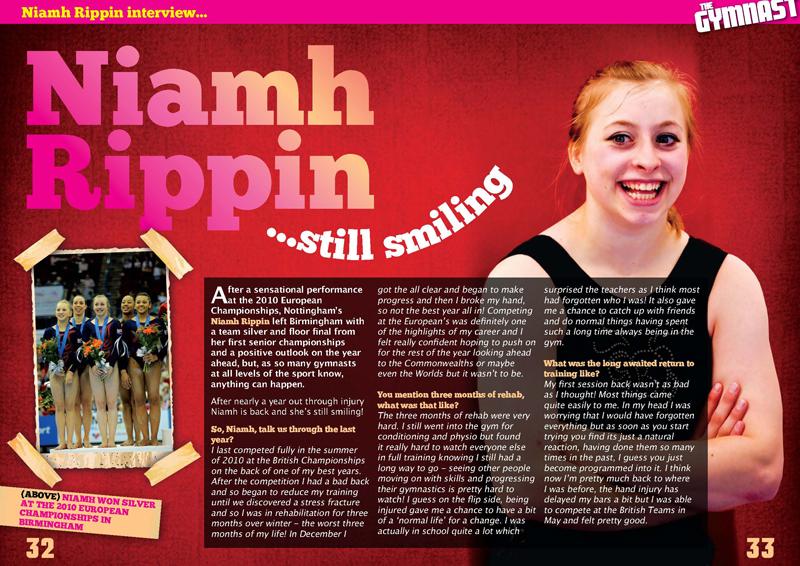 The Gymnast Magazine - Niamh Rippin